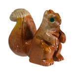 Mini Carved Stone Squirrel - Assorted Onyx (3)