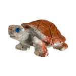 Mini Carved Stone Turtle - Assorted Onyx (3)