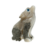 Mini Carved Stone Wolf - Assorted Onyx (3)