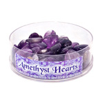 Mini Heart Display - Amethyst 25 mm (48/display)