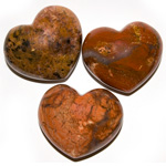 Puffy Heart Stones - Brecciated Jasper (6)