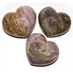 Puffy Heart Stones - Fancy Jasper (6)