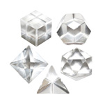 Platonic Solids 5 Piece Set (Sacred Geometry) - Quartz Crystal