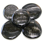 Earth Stones - Silver Sheen Obsidian (1 lb)
