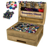 Treasure Chest Display - Rainbow Magnetic Hematite with Stone Combo (33 lbs)