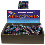 Magnetic Hematite Rainbow Sticky Stones Display (11 lbs)