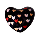 Harmony Heart - Black-  Multi-hearts (6)