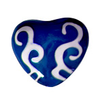 Harmony Heart - Blue-  Swirls (6)
