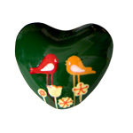 Harmony Heart - Green - Birds and Flowers (6)