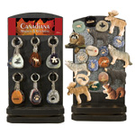 Canadiana Keychain and Magnet Display - Assorted (70/display)