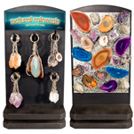 Mineral Keychain and Magnet Counter Display - Assorted (84/display)