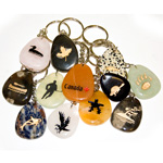Canadiana Stone Keychains - Assorted (12)
