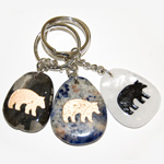 Canadiana Stone Keychains - Bear (6)