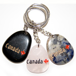 Canadiana Stone Keychains - Canada w/ Maple (6)