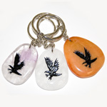 Canadiana Stone Keychains - Eagle (6)