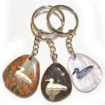 Canadiana Stone Keychains - Loon (6)