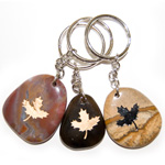 Canadiana Stone Keychains - Maple Leaf (6)