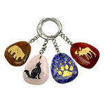 Totem Stone Keychains - Assorted (12)