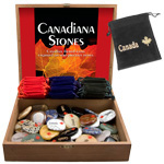 Canada Stones Display - Assorted w/ Canada Imprinted Gembags (50/display)