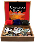 Canadiana Stone w/ Gembags Display - Assorted (72/display)