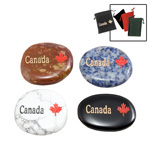 Canada Stones w/ Canada Imprinted Gembags - Assorted (50)