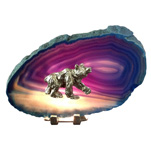 Pewter on Agate - Bear