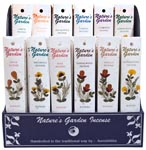Natures Garden Incense Sticks Display - Assorted (120/display)
