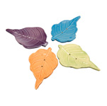 Ceramic Leaf Incense Holders - Assorted (6)