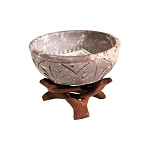 Soapstone Incense Burning Dish with Cobra Stand