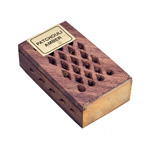 Wood Fretwork Box w/ Resin - Amber and Patchouli (3)