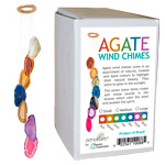 Zenature Agate Wind Chimes - Boxed (Medium) Assorted (12)