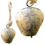 Rustic Bell - Gola Shape with Om Symbol