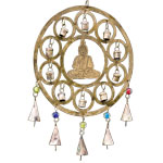 Rustic Bell Chime - Buddha with Circles
