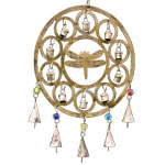Rustic Bell Chime - Dragonfly with Circles
