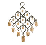 Rustic Cow Bells in Ovals Wind Chimes (11.5 inch)