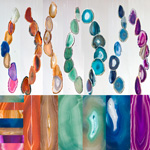 Agate Wind Chimes - (Medium) Assorted (12)