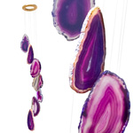 Agate Wind Chimes - (Medium) Purple