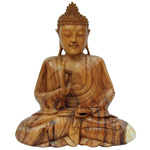 Meditation Buddha (30 cm) - Suar Wood