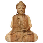 Meditation Buddha (40 cm) - Suar Wood