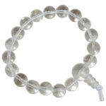 Gemstone Power Bracelet - Clear Quartz Beads (18 bead mala)