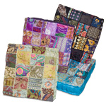 Square Khambadia Pattern Meditation Pillows - Assorted (8)