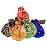 Japa Mala (Prayer Bead) Silk Bag