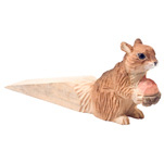 Carved Wood Door Stop - Squirrel
