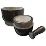 Double Sided Granite Mortar and Pestle