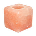 Himalayan Salt Candle Holder - Cube