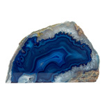 Agate Geode Candle Holder - Blue