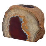 Agate Geode Candle Holder - Rust