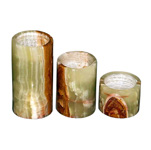 Candle Holder Set - Rainbow Onyx (3/set)