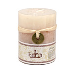 Elemental Pillar Candles - Vanilla / Earth (2)