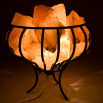 Himalayan Salt Lamp - Fire Basket